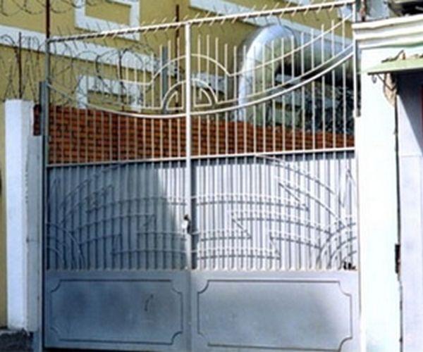 Ворота сварные сплошные электропривод откатных ворот nice rd 400